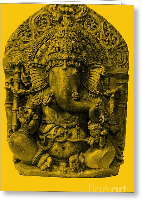Ganapati Greeting Cards - Ganesha, Hindu God Greeting Card by Photo Researchers
