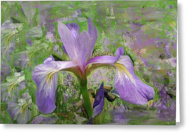 Green Ocean With White Water Greeting Cards - Garden of Eden Painting  Greeting Card by Don  Wright