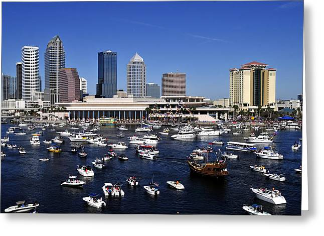 Famous Pirate Greeting Cards - Gasparilla 2012 Greeting Card by David Lee Thompson