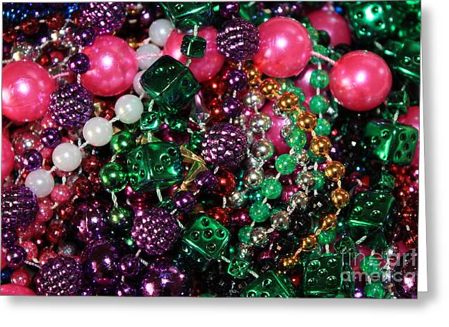 Party Invitations Greeting Cards - Gasparilla Beads Greeting Card by Carol Groenen