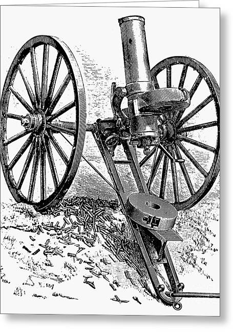 19th Century America Greeting Cards - GATLING GUN, 19th CENTURY Greeting Card by Granger