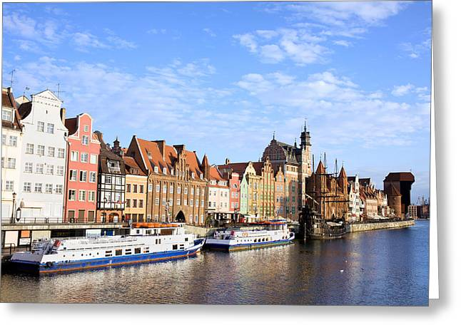 Polish Old Town Greeting Cards - Gdansk Old Town in Poland Greeting Card by Artur Bogacki