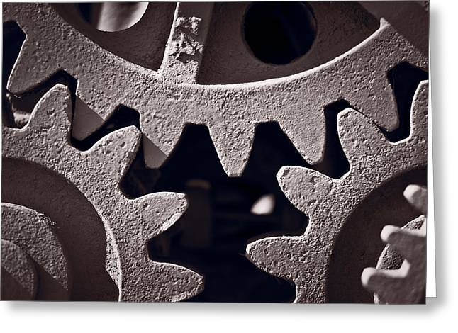 Gear Greeting Cards - Gears Number 2 Greeting Card by Steve Gadomski