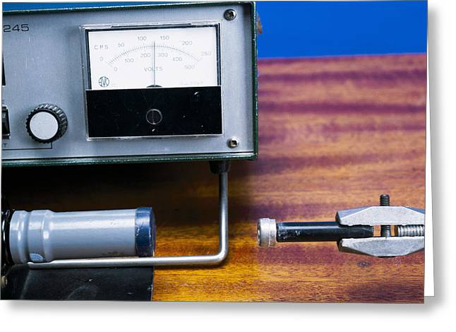 Geiger Counter Greeting Cards - Geiger-muller Tube Greeting Card by Andrew Lambert Photography