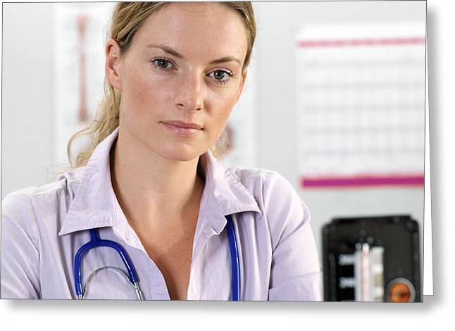 Human Health Greeting Cards - General Practice Doctor Greeting Card by Tek Image