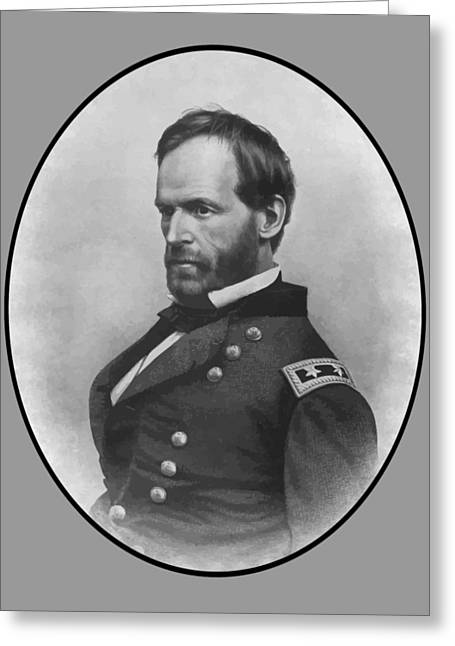Williams Digital Art Greeting Cards - General Sherman Greeting Card by War Is Hell Store