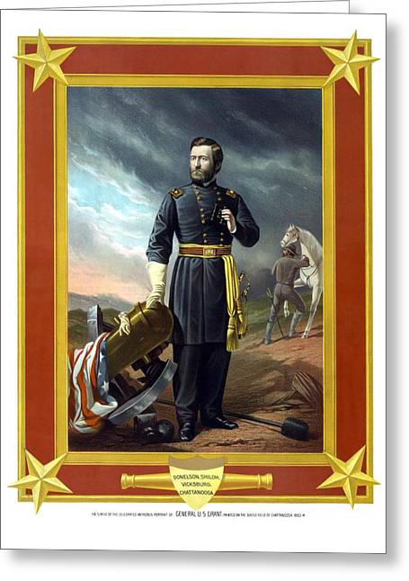 Commander Greeting Cards - General US Grant Greeting Card by War Is Hell Store