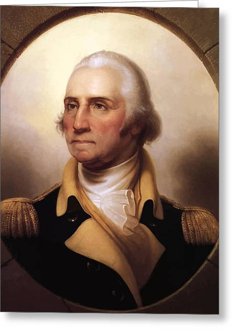Revolutions Greeting Cards - General Washington Greeting Card by War Is Hell Store