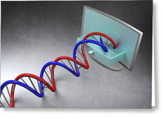 Double Stranded Greeting Cards - Genetic Research, Conceptual Image Greeting Card by Laguna Design