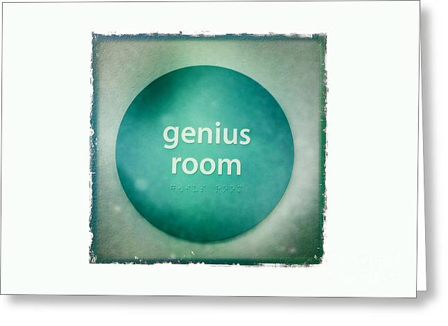 Genius Room Greeting Card by Nina Prommer