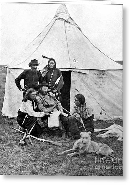 West Yellowstone Greeting Cards - George Armstrong Custer Greeting Card by Granger