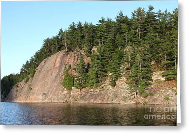 Pinus Resinosa Greeting Cards - George Lake Greeting Card by Ted Kinsman