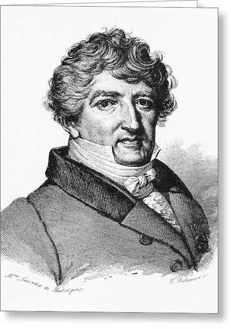 Taxonomist Greeting Cards - Georges Cuvier, French Zoologist Greeting Card by