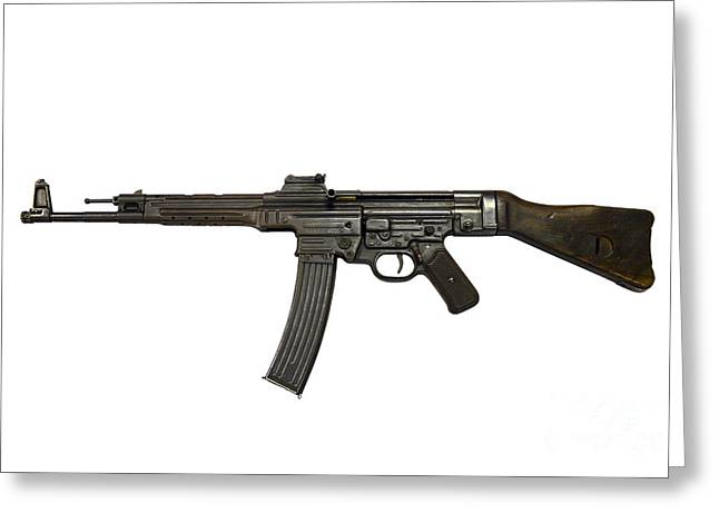 Assault Weapons Greeting Cards - German Mp-44 Assault Rifle Greeting Card by Andrew Chittock