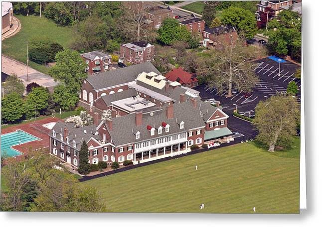 Cricket Aerial Greeting Cards - Germantown Cricket Club Greeting Card by Duncan Pearson