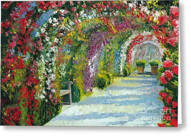 Europe Paintings Greeting Cards - Germany Baden-Baden Rosengarten Greeting Card by Yuriy  Shevchuk