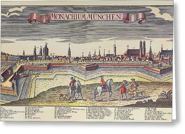 18th Century Greeting Cards - Germany: Munich Greeting Card by Granger