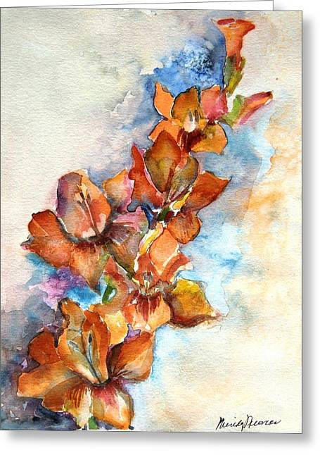 Gladiolas Greeting Cards - Glad to Be Greeting Card by Mindy Newman