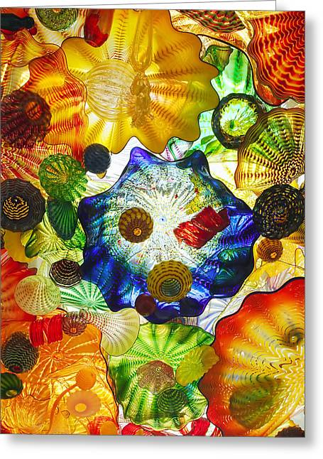 Sea Shell Art Greeting Cards - Glass art.  Greeting Card by Gino Rigucci