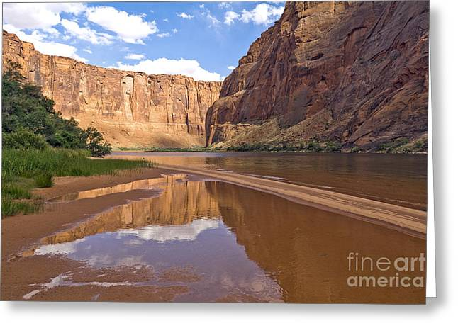 Canyon Ferry Lake Greeting Cards - Glen Canyon Reflection Greeting Card by Carol Barrington