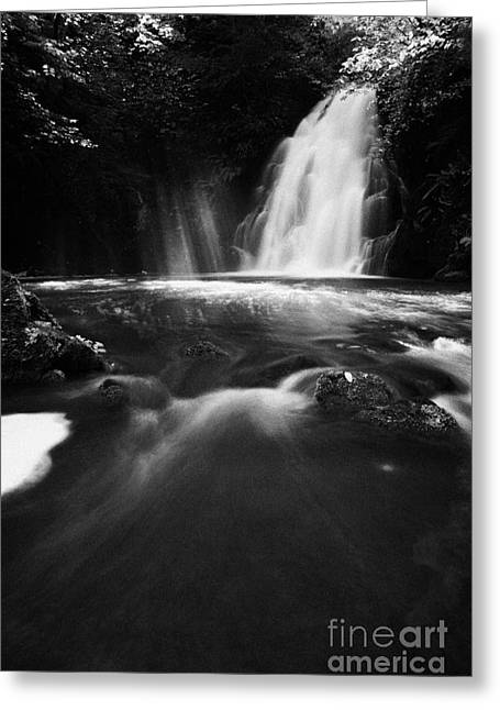 River Flooding Greeting Cards - Gleno or Glenoe Waterfall county antrim Greeting Card by Joe Fox