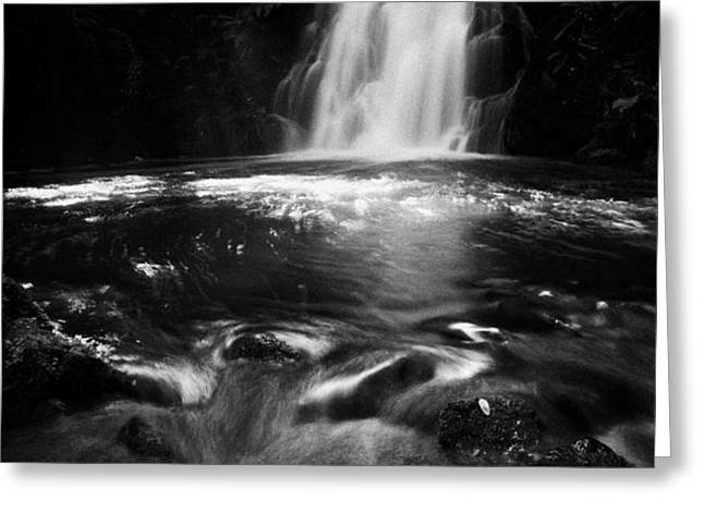 Gleno or Glenoe Waterfall county antrim northern ireland uk Greeting Card by Joe Fox