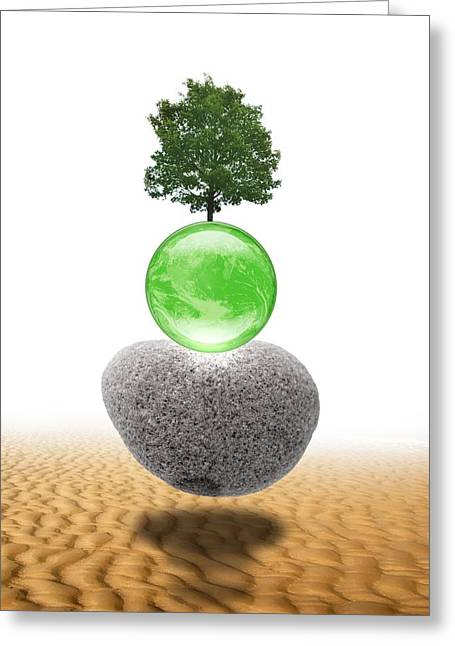 Global Greens Greeting Cards - Global Environment, Conceptual Artwork Greeting Card by Victor Habbick Visions