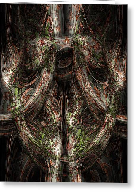 Beings Greeting Cards - Gnarled Greeting Card by Christopher Gaston