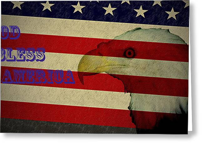 God Bless America Greeting Cards - God Bless America Greeting Card by Bill Cannon
