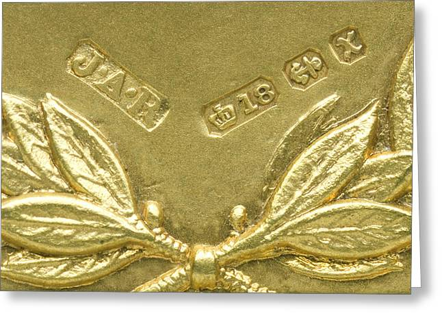 Assay Mark Greeting Cards - Gold Hallmarks, 1897 Greeting Card by Sheila Terry