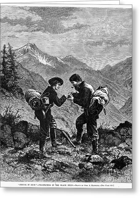 Gold Prospectors, 1876 Greeting Card by Granger