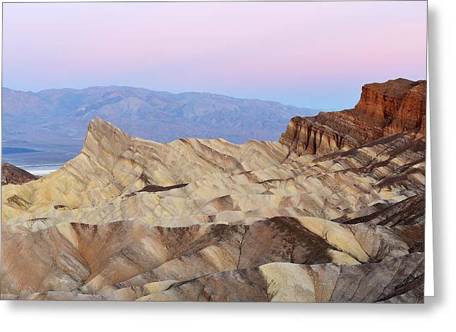Panamint Valley Greeting Cards - Golden Canyon Death Valley Greeting Card by Dean Pennala