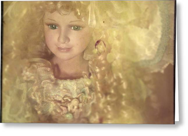Fabled Greeting Cards - Golden Fairy Greeting Card by Angel  Tarantella