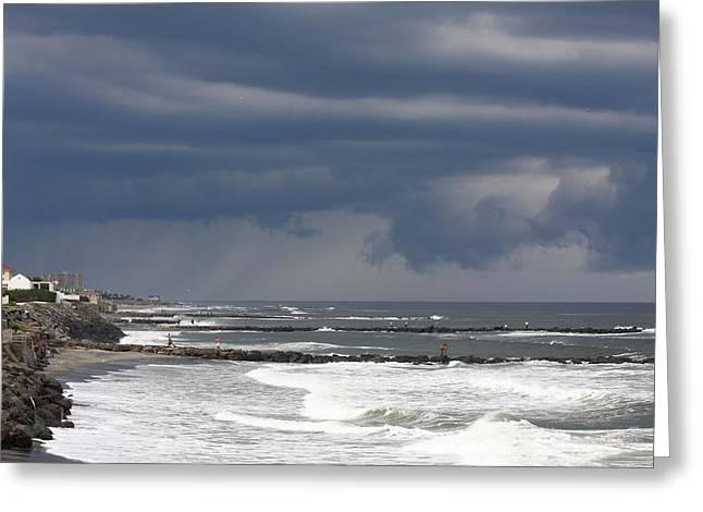 Beaches In Monterey Greeting Cards - Gone Fishing  Greeting Card by Boris REYT