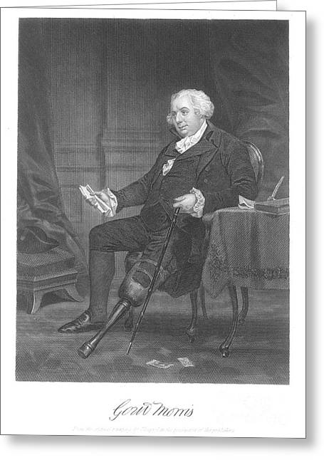 Recently Sold -  - Engraving Greeting Cards - Gouverneur Morris Greeting Card by Granger