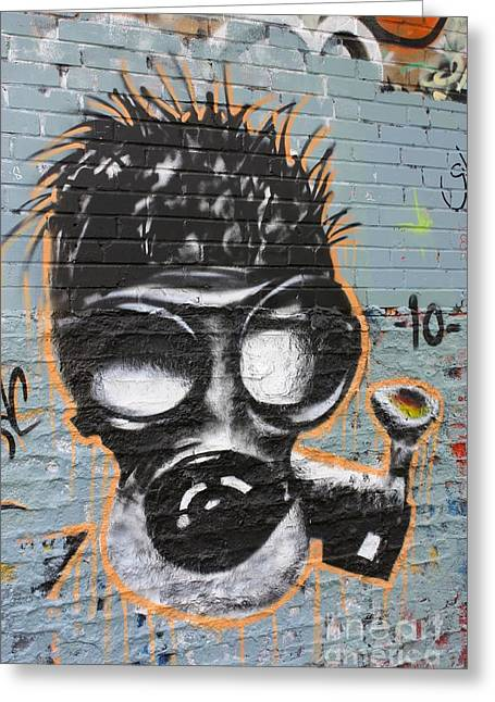 Recently Sold -  - Paint Photograph Greeting Cards - Graffiti 6 Greeting Card by Sophie Vigneault