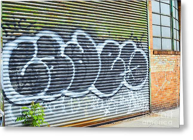 City Art Greeting Cards - Graffiti Greeting Card by Photo Researchers