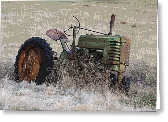 Grampa Greeting Cards - Grampas Old Tractor Greeting Card by Steve McKinzie