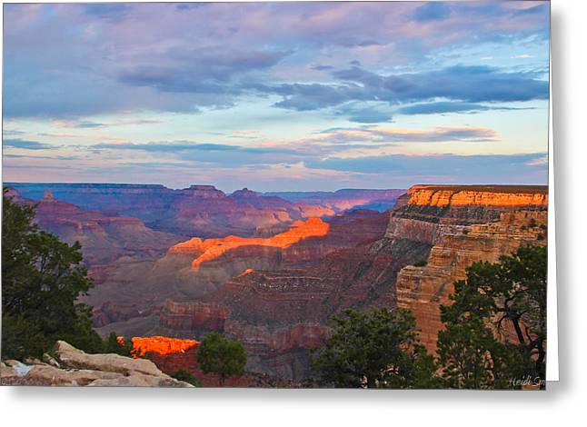 Grand Canyon Grand Sky Greeting Card by Heidi Smith