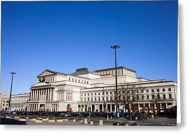 Classical Style Greeting Cards - Grand Theatre in Warsaw Greeting Card by Artur Bogacki