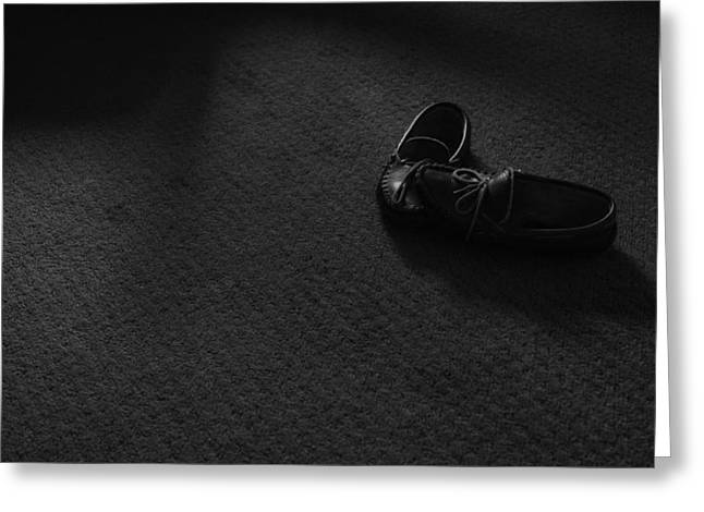 Grandpa's Slippers Greeting Card by Tristan Bosworth