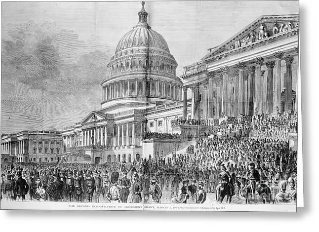 Inauguration Photographs Greeting Cards - Grants Inauguration, 1873 Greeting Card by Granger