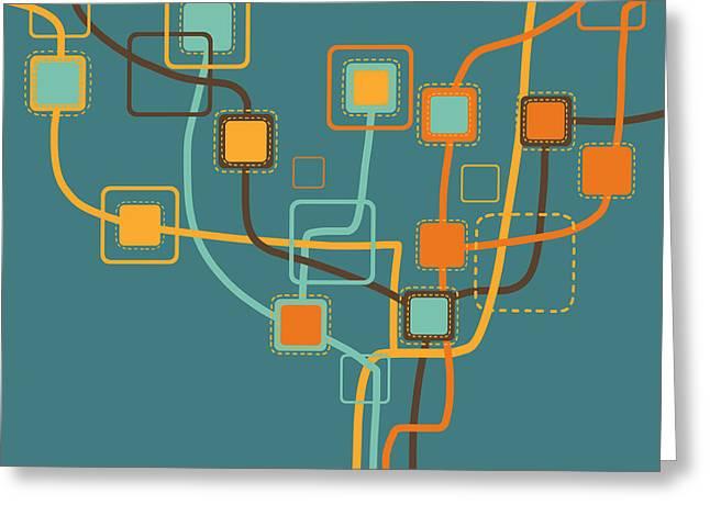 graphic tree pattern Greeting Card by Setsiri Silapasuwanchai