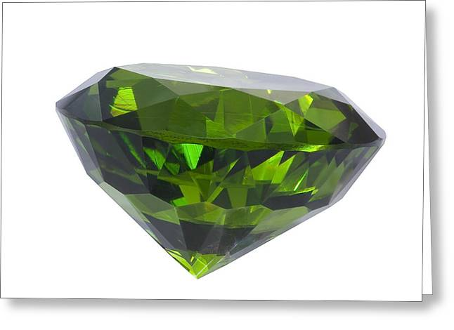 great emerald isolated Greeting Card by ATIKETTA SANGASAENG