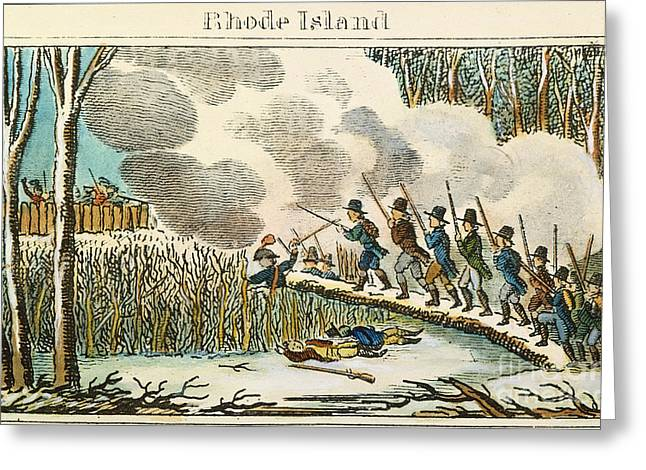 Great Swamp Fight, 1675 Greeting Card by Granger