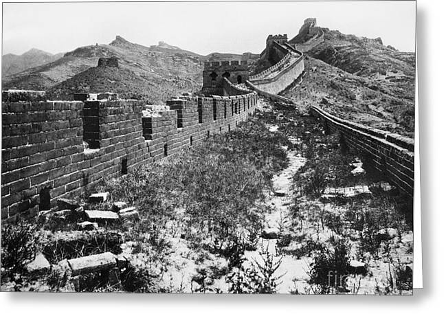 1901 Greeting Cards - Great Wall Of China, 1901 Greeting Card by Granger