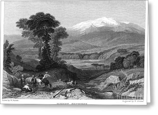 1833 Greeting Cards - Greece: Mount Olympus Greeting Card by Granger