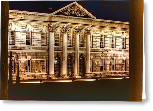 Naval College Greeting Cards - Greenwich Royal Naval College  Greeting Card by David French