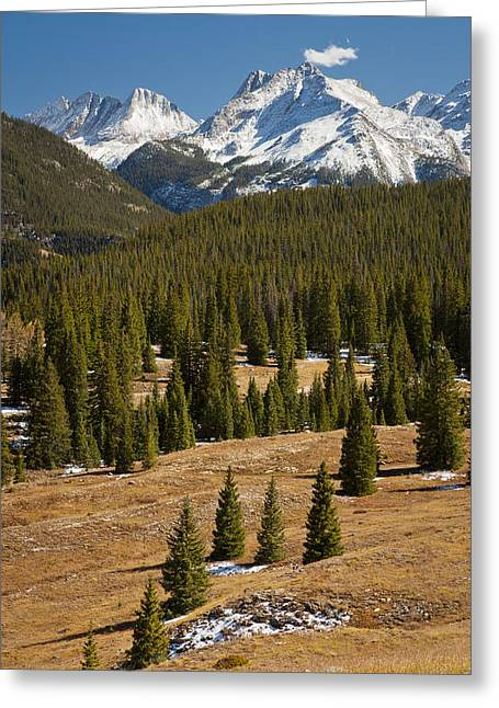 Vestal Greeting Cards - Grenadier Range Colorado Greeting Card by Ed Book