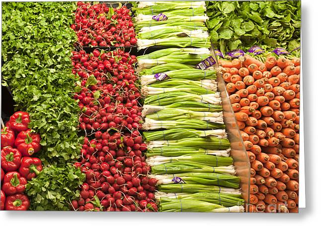 Grocery Store Greeting Cards - Grocery Store Produce Aisle Greeting Card by David Buffington